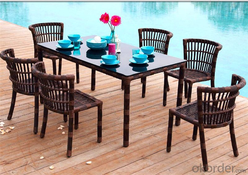 Garden Set with Round Rattan for Outdoor Furniture Garden Patio  CMAX-DS003MYX
