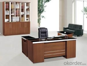 Office Table/Commerical Desk Classical Boss Table Solid Wood/MDF/Glass with Best Price CN804