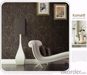 PVC Wallpaper Washable Waterproof Wallcovering for Home or Hotel Wall Decoration