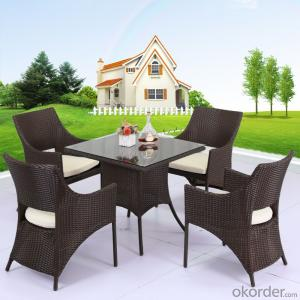 Dinning Set with 4 Chairs for Garden CMAX-DC004LJY