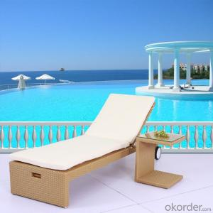 Outdoor Sun Lounger with Wheel  for Garden and Beach CMAX-SL010LJY