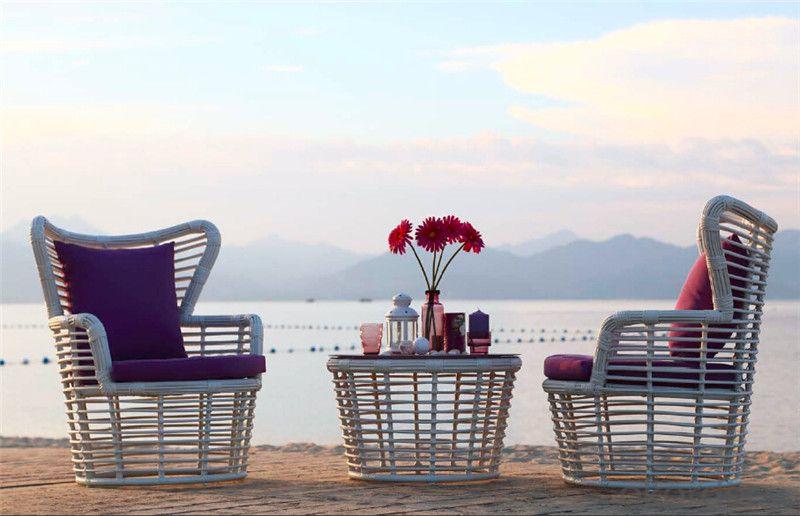 Garden Sofa 3 PCS Round Rattan for Outdoor Furniture Beach Furniture  CMAX-SS008MYX