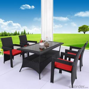 Hand Waved Rattan Dinning Set with 4 Chairs CMAX-DC003LJY