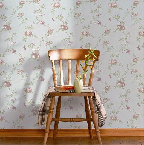 PVC Wallpaper Vintage Luxurious Flowery Floral Design Home Gorgeous Decor