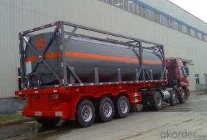 40FT Cement Shipping Tank Container for Storing Fuel and Gas