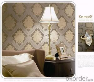 PVC Wallpaper Classic European Damask Style Feature Wallpaper Papel De Parede