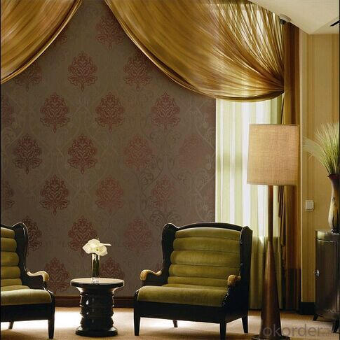 PVC Wallpaper Luxury Genuine  for TV Background of European Baroque Flower