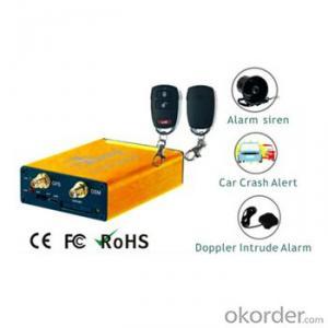Advanced GSM/GPRS Alarm Vehicle GPS Tracker with Hazard/Siren, Door Lock/Unlock,Speed Buzzer AS-201