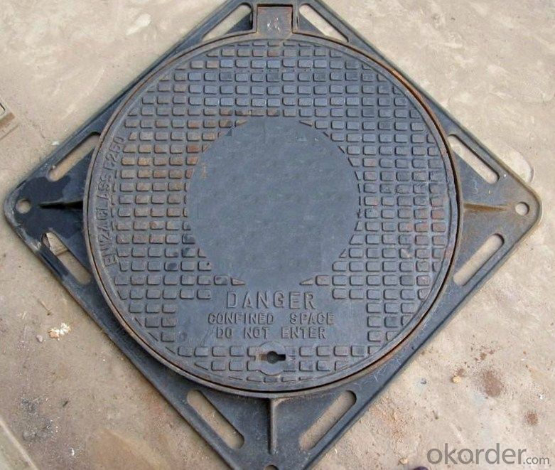 Manhole Cover of Cast Iron for Morocco 850x850x600