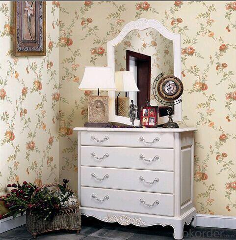 PVC Wallpaper Flowers Bedroom Papel De Parede Nature Minimalist Living Room