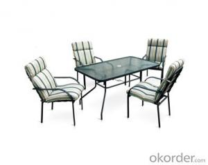 Outdoor Beach Textilene Garden Table and Chair set