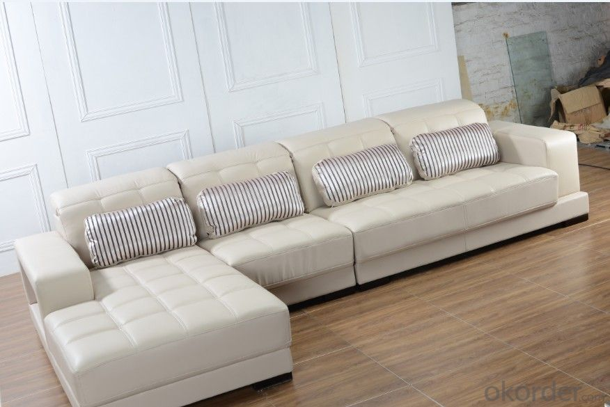 Soft Leather Sofa Classic Style for Living room