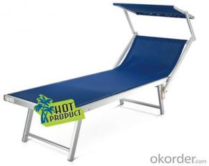 Waterproof Textilen Fabric Beach lounge Cheap Lounger