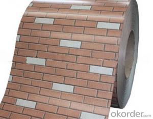 Brick Pattern Color Prepainted Steel Coil