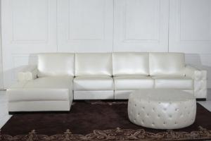 Modern Style Leather Sofa for Living Room