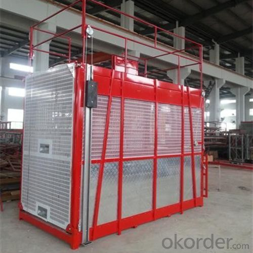 Building Hoist Single Cage Construction Lifting