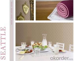 PVC Wallpaper S010 for Kitchen Washable Wallpaper for Office Walls