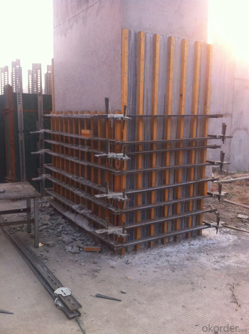 repeat column formwork adjustable  clamp size 300mmx300mm height  3600mm