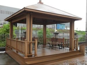 WPC decking/Hot sale wholesale Price Hollow Waterproof WPC Decking for outdoor
