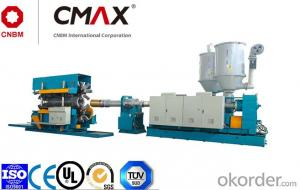 CMAX  HDPE/PP/PVC Vertical Type Double Wall Corrugated Pipe and PVC Ribbed Pipe Extrusion Line