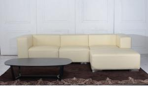 Classic Design Leather Sofa for Living Room