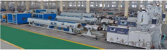 Common Diameter HDPE Pipe , PP Chemical  Pipe and MPP Electrical Wire Protection Pipe Extrusion Line