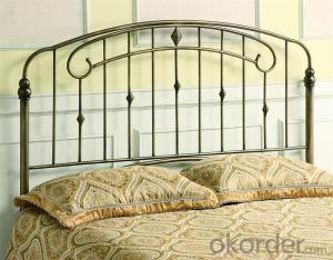 Metal Single Bed with Modern Design with Wooden Slats  MB317