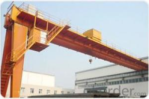 CE ISO SGS heavy duty double beam semi gantry crane