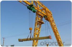 Top design truss type single beam gantry crane for out door usage