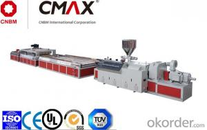 PE, PP, PVC And Wood Plate Extrusion Line