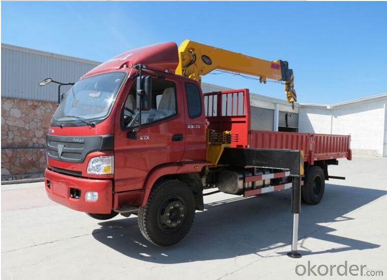 Truck mounted crane with FOTON camion BJ5122V4PBB-A1 4x2 avec grue de 7 tonnes