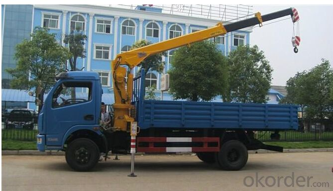 Mounted truck with DONGFENG chassis /folding boom crane 12ton