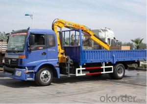 Telescopic Crane 6X4 10 Tons lorry truck mounted crane