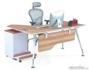 Office Desk Commerical Table MDF/Glass with Low Price 8706