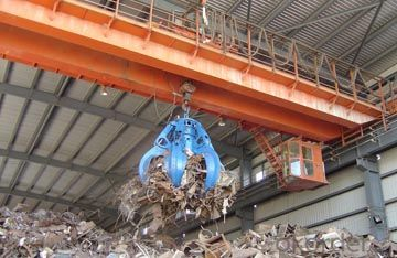 Clamshell Scrap Cargo Grab Bucket Double Beam Crane