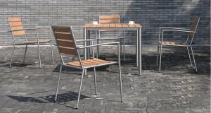 Dinning set Plastic Wood Outdoor Furniture