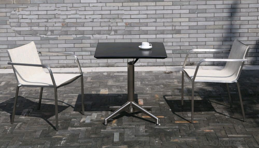 Outdoor Funiture Cafe table & Chair with WPS Plastic Wood