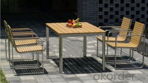 Funiture Outdoor Dining Sets with PVC PP Wood No Pollution and Durable