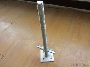 Steel Galvanized Scaffolding  Adjustable Solid  Screw Jack