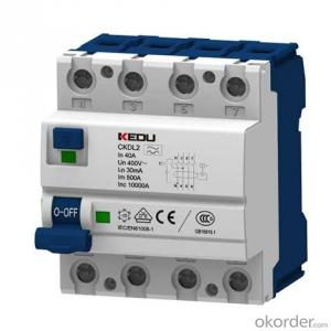 Residual current circuitbreaker 25A, 40A, 63A
