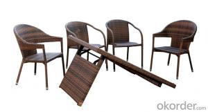 Outdoor Furnitures PE Rattan Wicker Dinning Sets