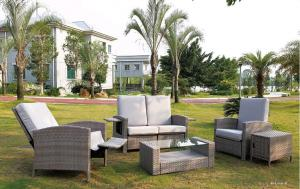 Outdoor Furniture Synthetic PE Rattan Garden Sofa Sets