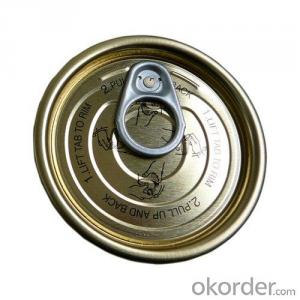 Tinplate Easy Open Peel Off End, Full Open 401#