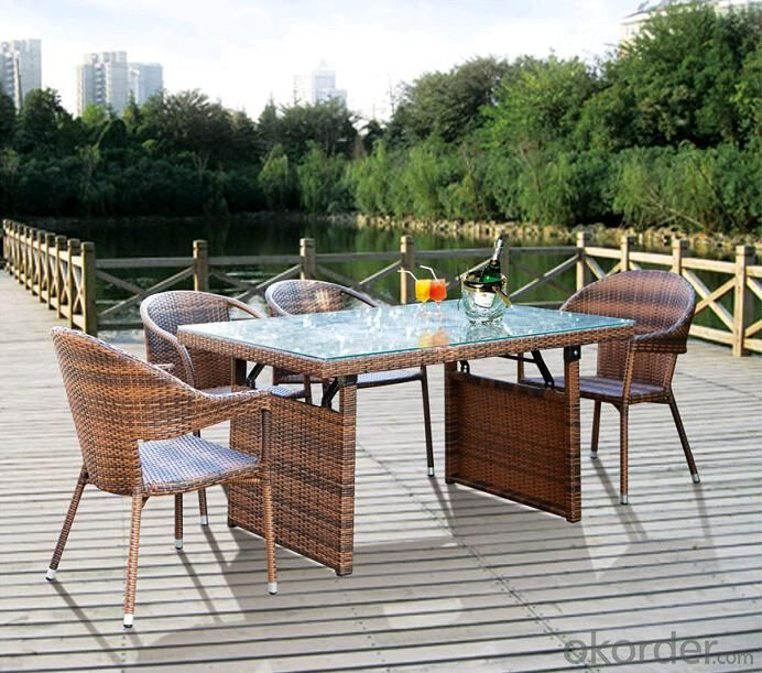 Outdoor Furnitures PE Rattan Wicker Dinning Sets