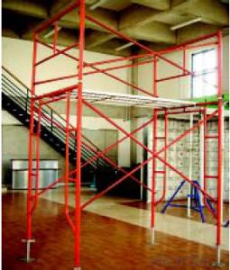 Frame-Connected Scaffolding with Ideal Materials for Construction