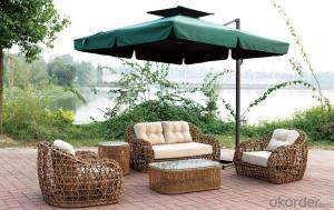 Outdoor Furniture Big Round Rattan Wicker Sofa Sets