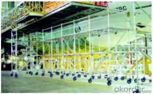 Ring Lock  Scaffolding with Safe Work Platform