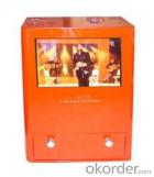 Estación de carga móvil con pantalla LCD.