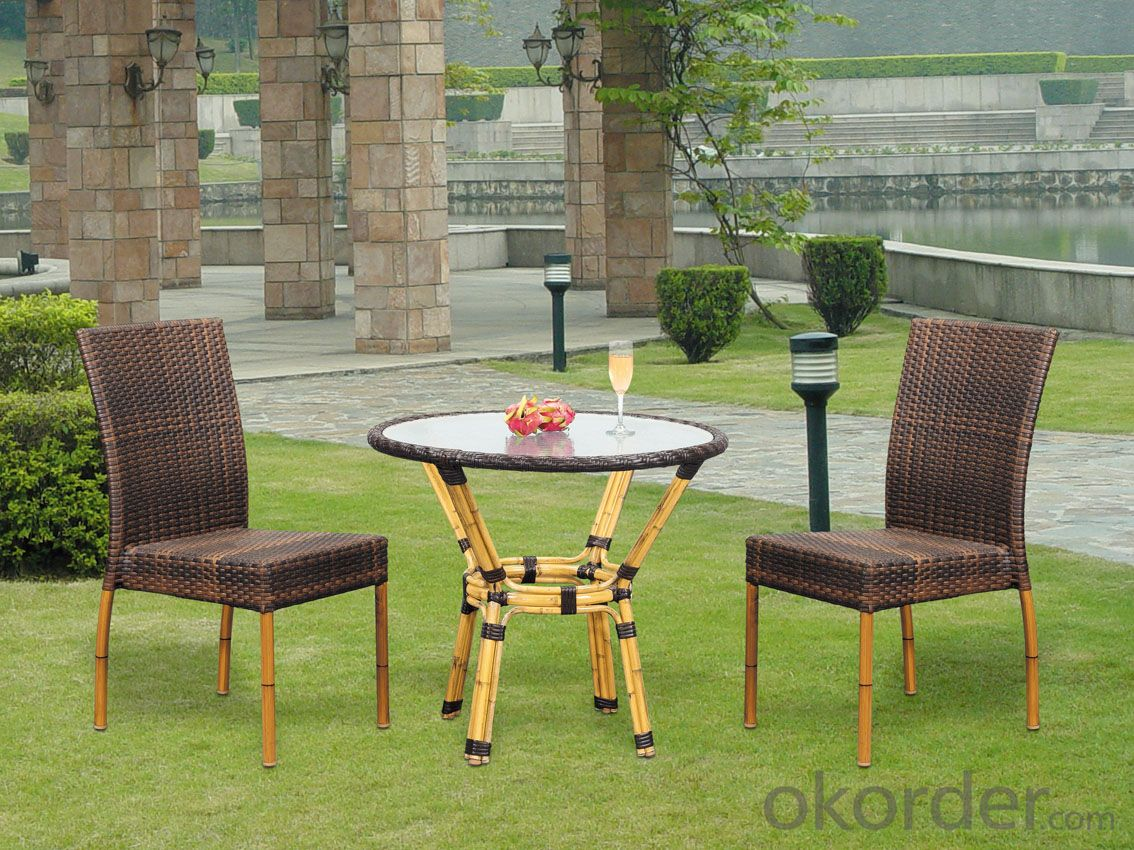 Rattan Outdoor Wicker Dining Set Patio Table with Chair