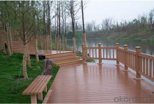 Non-Slip WPC Decking,PS Wood Plastic Decking,Polystyrene Plastic Decking